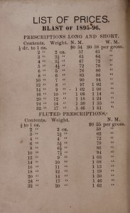 Price list adopted by the Glass Bottle Blowers' Association of the United States and Canada, for the blast of...