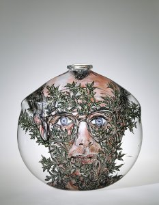 Self-Portrait with Foliage