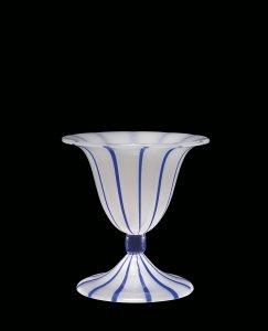 "Footed Pokal in ""Opal mit Streifen"" (Opal with stripes) Pattern"