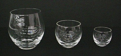 (A) Water Byttan #31, (B) Wine Byttan #24, (C) Byttan #22