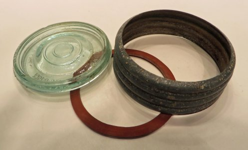 Lid and 2 Rings for Fruit Jar