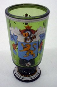 Footed Armorial Beaker