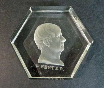 Paperweight with Daniel Webster Portrait