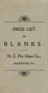 Price list of blanks.