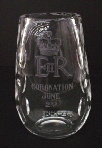 Vase Engraved with the Royal Crown