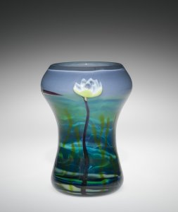 Marquetry Vase with Water Lilies