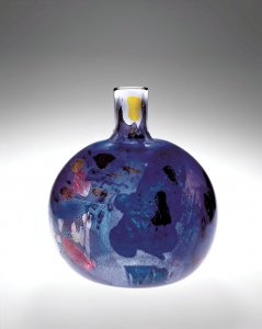 Bottle-Shaped Vase with Abstract Decoration