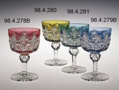 "2 Wineglasses in ""Persian"" Pattern"