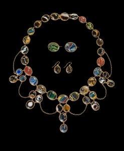 Mosaic Glass Demi Parure