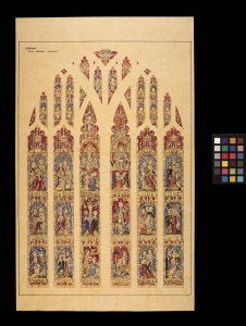 [Preliminary sketch for Thorp memorial window in Durham Cathedral] [art original].