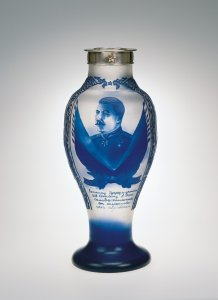 Commemorative Vase with Portrait of Josef Stalin