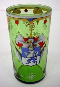 Armorial Beaker with Plumage