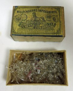Matchbox Containing Assorted Glass Parts of Marine Animals