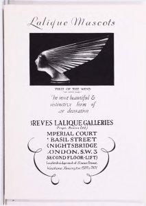 Lalique mascots.