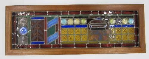 Framed Stained Glass Window Panel