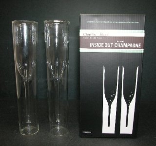 InsideOut Glass Collection: Pair of Champagnes