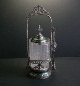 Pickle Caster with Silver Stand
