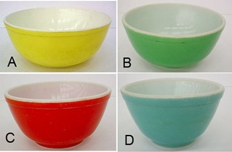 4 Pyrex Nesting Bowls