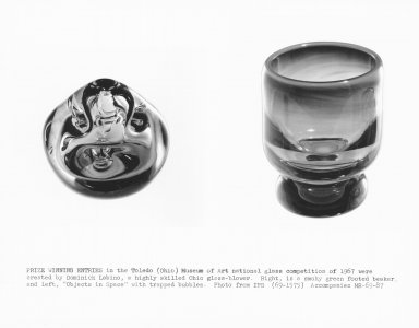 [Prize winning entries created by Dominick Labino in the Toledo Museum of Art national glass competition of 1967] [picture].