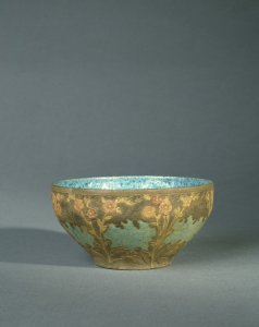 Small Bowl with Flowers and Leaves
