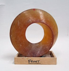 Resin Model of Mobius Prism with Wood Base