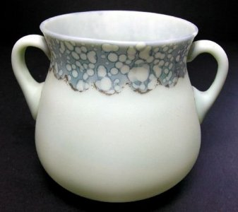 Opaque Green Sugar Bowl