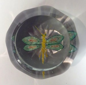 Paperweight with Dragonfly