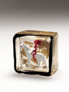 Paperweight with Horse and Female Rider