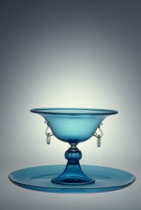 Compote and Plate