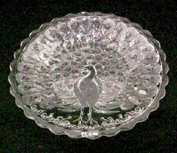 Plate with Peacock Design