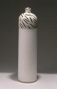 Ivory/white tall 'lidded' vessel [slide].
