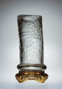 Mounted Vase with Marsh Landscape