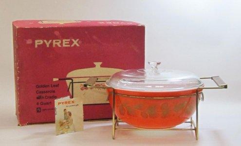 4 Quart Pyrex Casserole with Cradle in Original Box