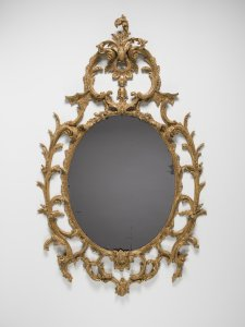 Mirror in Carved and Gilded Wood Frame