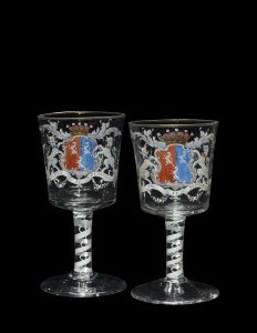 2 Armorial Goblets