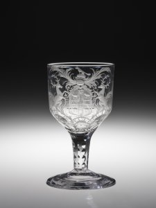 Goblet Engraved with the Arms of the Hudson's Bay Company