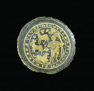 Roundel Fragment with Shepherd and Flock