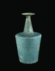 Cylindrical Turquoise Bottle