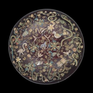 Inlaid Bowl with Nilotic Scene
