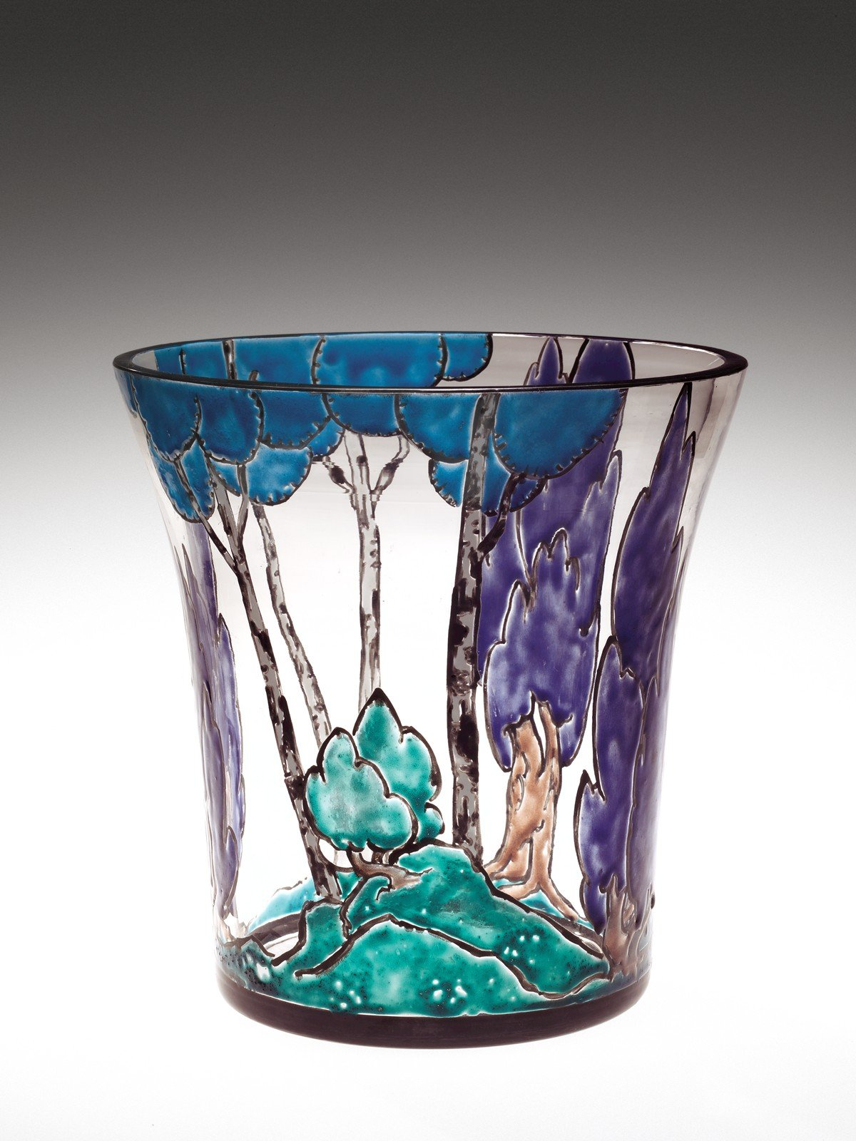 a research on the core formed vase displayed at the corning museum of glass