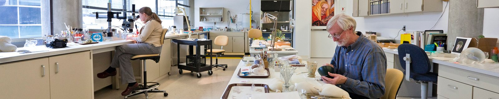Conservation Lab of The Corning Museum of Glass