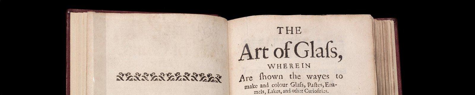 L'arte vetraria distinta in libri sette (The art of glass [divided] into seven books) Antonio Neri (Italian, 1576–1614) Florence, Nella Stamperia de'Giunti, 1612 CMGL 78964 (1000059052)