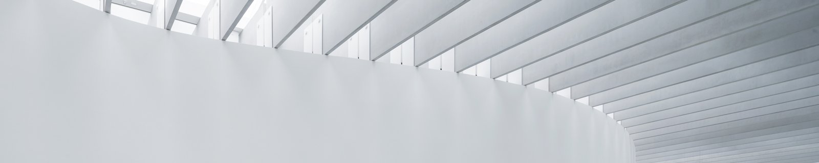 Light diffusing skylights in the Contemporary Art + Design Wing.