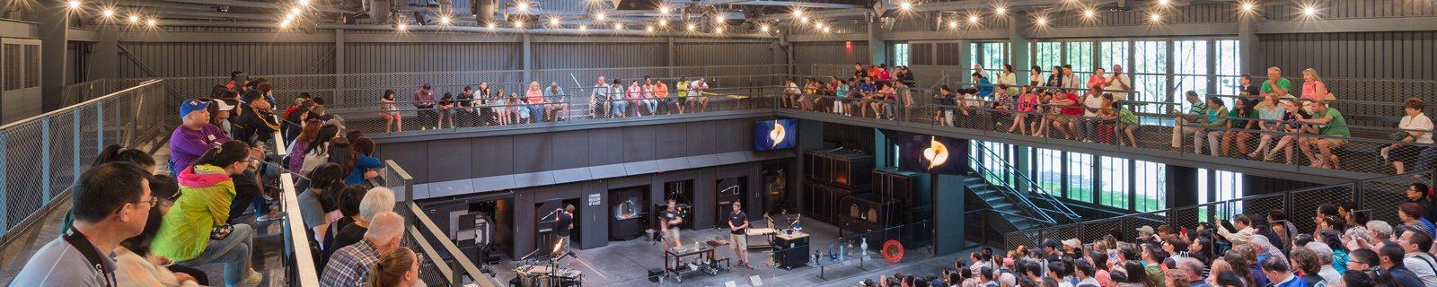 All exhibits & glassmaking demos are included in admission (extra to Make Your Own Glass).