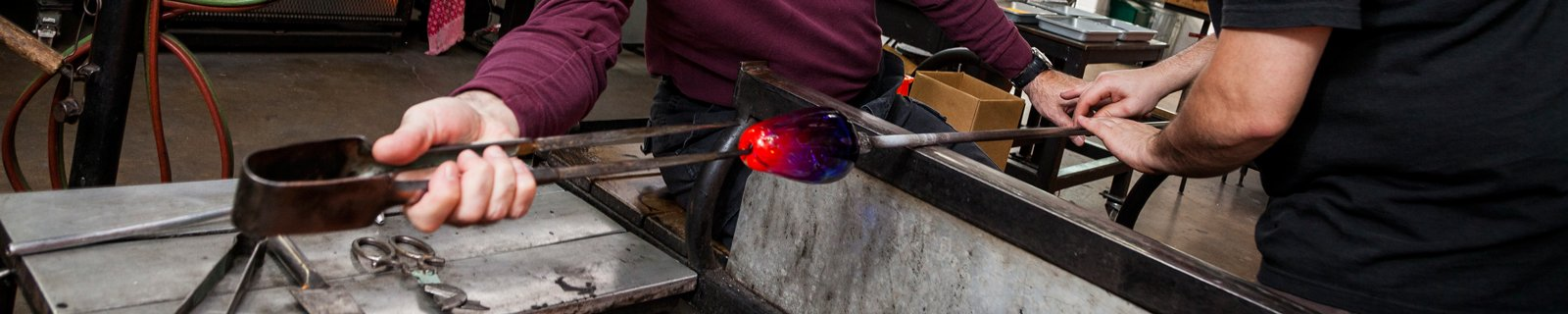 Veterans Glassblowing at The Studio of The Corning Museum of Glass
