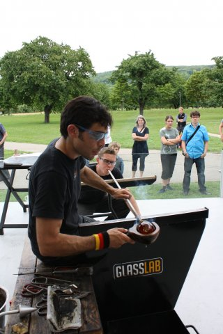 Marc Barreda and Ian Schmidt at GlassLab