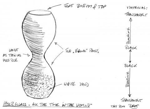 Design drawing by Beat Karrer for GlassLab at Vitra Design Museum, Art Basel 2011