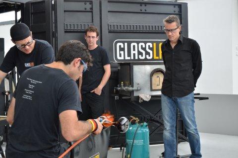 Designer Beat Karrer at GlassLab at Vitra Design Museum 2011