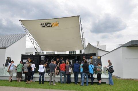 Crowd at GlassLab at Vitra Design Museum 2011
