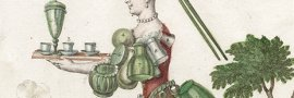 Une verriere / Eine Glassmacherin (detail), Martin Engelbrecht, Augsburg, 1730. CMGL 129856.